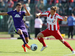 Rot-Weiß Erfurt hat den Vertrag mit Florian Bichler (r.) aufgelöst
