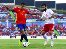 Tornike Okriashvili (re.) erzielte gegen Spanien das goldene Tor