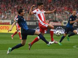 Die Berliner mussten sich im Heimspiel dem 1. FC Heidenheim geschlagen geben