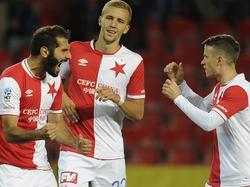 Halil Altintop (l.) spielt seit dem Sommer für Slavia Prag