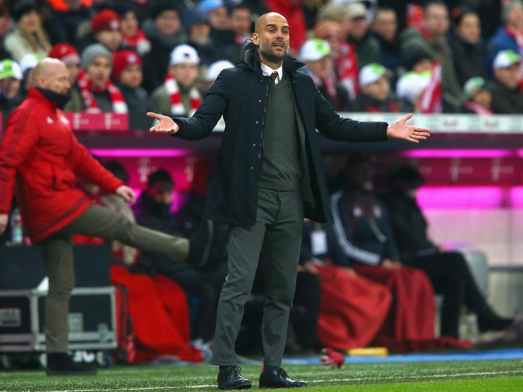 Nicht besonders zufrieden: Pep Guardiola an der Seitenlinie