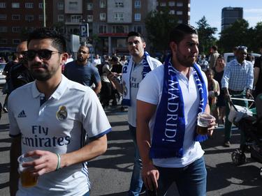 Die Fans der Königlichen strömten vor dem Clásico Richtung Stadion