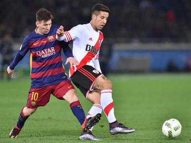 Sebastián Driussi (r.) durfte sich bereits mit den besten Spielern der Welt messen