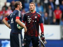 Tom Starke (li.) möchte gern Manuel Neuer ersetzen