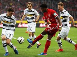 David Alaba setzte sich mit den Bayern in Mönchengladbach durch