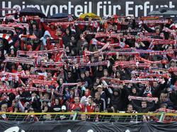 Die Erfurter Fans machen aktuell schwere Zeiten durch
