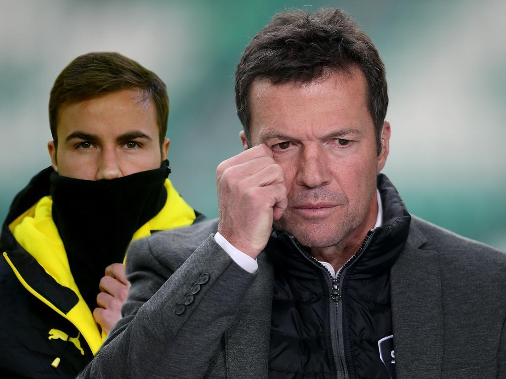 Lothar Matthäus (r.) schießt erneut gegen Mario Götze