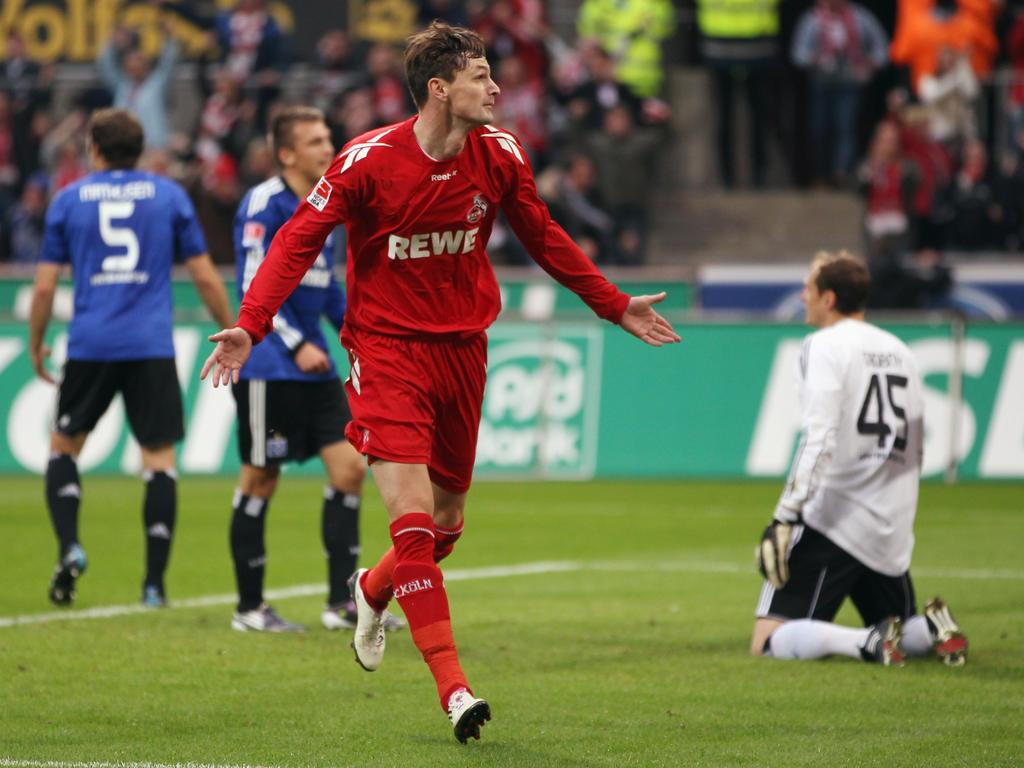 So sahen ihn die FC-Fans am liebsten: Novakovič in seiner typischen Jubelpose