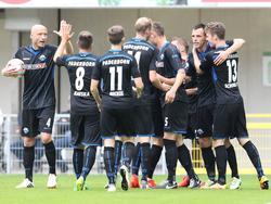 Der SCP bejubelt seinen Heimsieg gegen Mainz