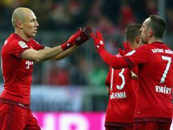 Arjen Robben (l.) und Franck Ribéry stehen noch bis 2017 unter Vertrag