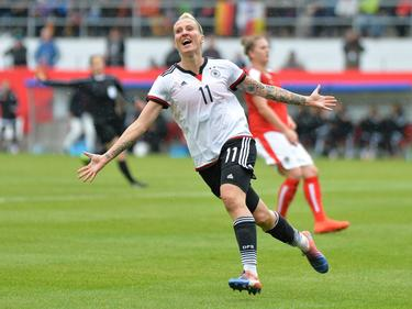 Anja Mittag traf gegen Österreich doppelt