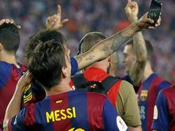 Selfies mit Lionel Messi darf nur ein Neymar machen