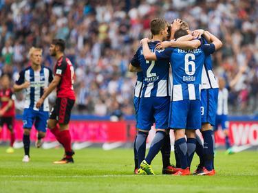 In einer spannenden Schlussphase jubeln die Berliner spät über den 2:1-Treffer in der Nachspielzeit