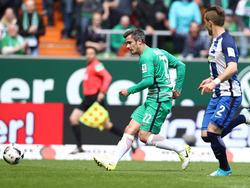Fin Bartels traf zum wichtigen 1:0 für die Bremer