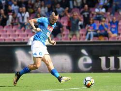 Marek Hamsik hizo uno de los tres goles del cuadro napolitano. (Foto: Getty)
