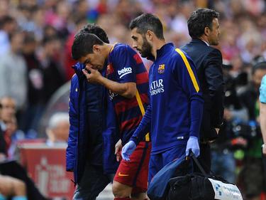 Luis Suárez wurde im Pokalfinale verletzt ausgewechselt