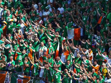 Die irischen Fans sorgten nicht nur auf den Tribünen für gute Stimmung