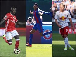 Die Spieler Gomes, Mboula und Schlager (v.l.) stehen vor großen Vereinskarrieren