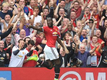 Romelu Lukaku zeigte sich gleich im ersten Liga-Spiel für Manchester United treffsicher