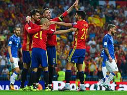 España fue muy superior a Italia en el Santiago Bernabéu. (Foto: Getty)