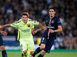 Mit Lionel Messi (links) und Edinson Cavani treffen die beiden besten Torjäger der Champions League aufeinander.