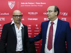 Sampaoli durante su presentación con el Sevilla (Foto: Getty)