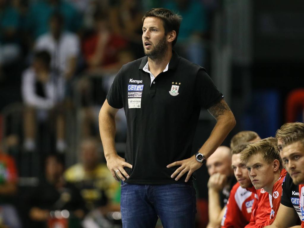 Magdeburgs Trainer Bennet Wiegert kann zufrieden sein