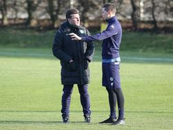 Hecking (l.) bekräftige erneut, dass Draxler (r.) beim VfL bleibt