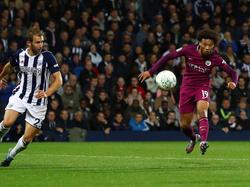 Leroy Sané hat ManCity in die nächste Runde des Ligapokals geschossen