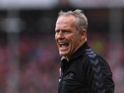 Freiburgs Coach Christian Streich verteidigte die Pokal-Pleite