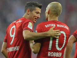 Arjen Robben und Robert Lewandowski stehen beim FC Bayern vor der Vertragsverlängerung