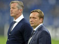 Horst Heldt (r.) und Jens Keller treffen am Wochenende aufeinander