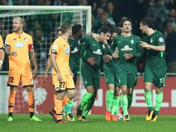 Ishak Belfodil (m.) erzielte den entscheidenden Treffer zum Einzug ins Achtelfinale