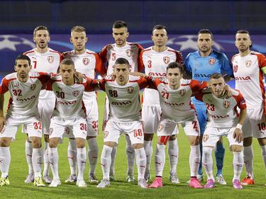 Klubi Futbollistik Skënderbeu Korçë spielte 2015 noch in der CL-Quali