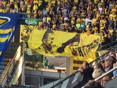 Widerwärtig: Bröndbys Fans schlagen Berg den Kopf ab (Foto: Martin Davidsen)