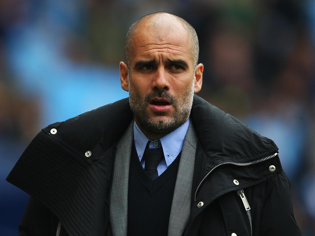 Sorgenfalten auf der Stirn von Pep Guardiola