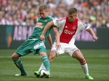 El Rapid de Viena dio la sorpresa al eliminar al Ajax en Ámsterdam. (Foto: Getty)