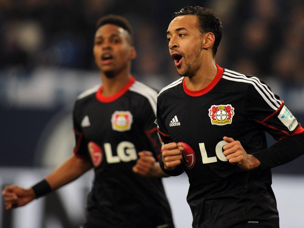 Wendell (l.) und Bellarabi jubeln weiter gemeinsam für Leverkusen