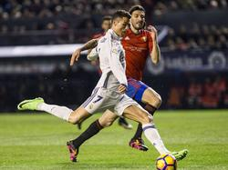 Cristiano Ronaldo (vorn) erzielte den ersten Treffer für Real gegen Osasuna