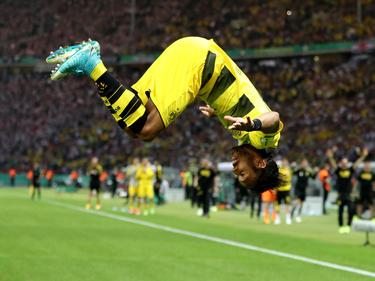 Aubameyang celebra el segundo gol del Dortmund (Foto: Getty)
