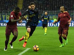 Antonio Rüdigers (l.) Vertrag beim AS Rom läuft bis Juni 2020