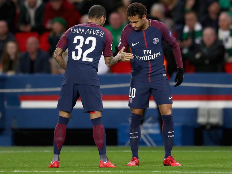 Nicht aufzuhalten: Dani Alves und Neymar spielen Celtic schwindelig