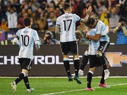 Die argentinische Nationalmannschaft setzte sich gegen Brasilien durch