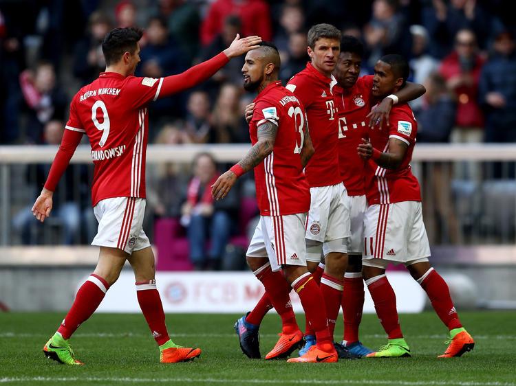 Im Torrausch: Die Bayern-Stars durften achtmal jubeln