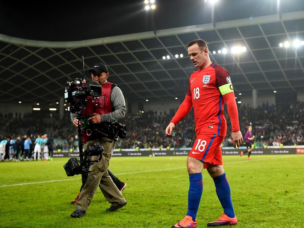 Wayne Rooney ist nicht für Englands Kader nominiert