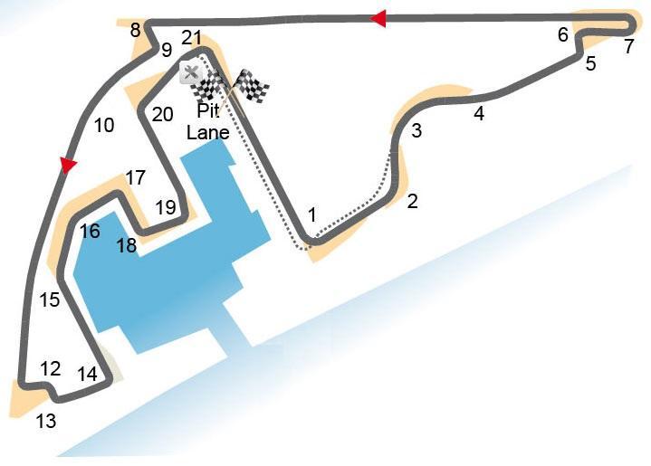 Das Streckenprofil von Abu Dhabi