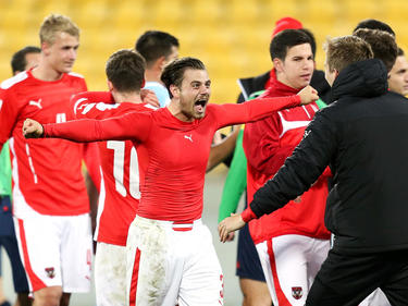 Die Freude bei den ÖFB-Youngsters ist enorm