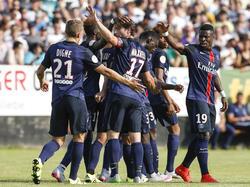 Serge Aurier traf zur Führung für Paris Saint-Germain