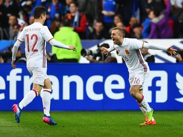 Die Spanier gewinnen mit 2:0 gegen Frankreich