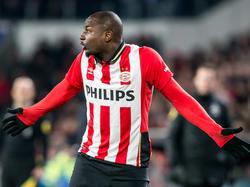 Jetro Willems baalt tijdens het competitieduel PSV - ADO Den Haag. (27-02-2016)
